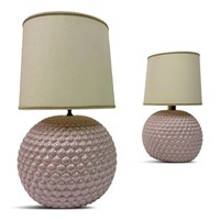 Pair of 1970s Italian Pink Ceramic Bubble Lamps