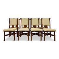 Set of Eight Italian Rosewood Dining Chairs