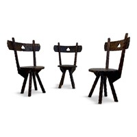 Set of Three Early 20th Century Primitive Chairs