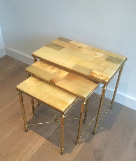 Set of nesting tables with onyx tops. Circa 1940 -barrois-antiques-50's-12109_main_636318714765693986.jpg