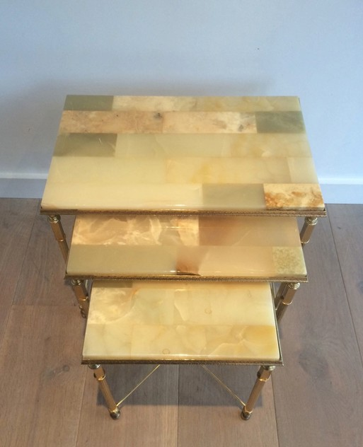 Set of nesting tables with onyx tops. Circa 1940 -barrois-antiques-50's-12110_main_636318715257275194.jpg
