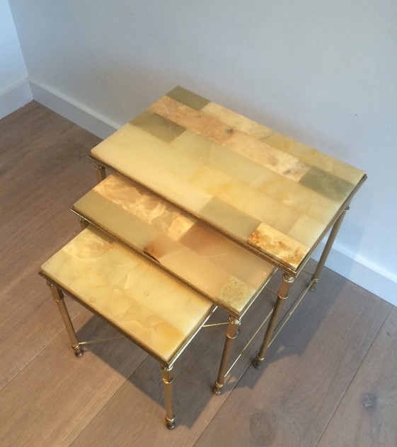 Set of nesting tables with onyx tops. Circa 1940 -barrois-antiques-50's-12116_main_636318720376520680.jpg