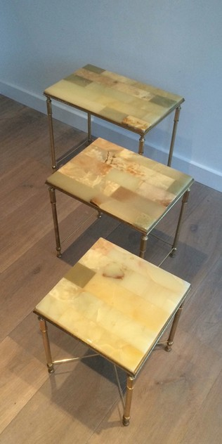Set of nesting tables with onyx tops. Circa 1940 -barrois-antiques-50's-12117_main_636318720697585144.jpg
