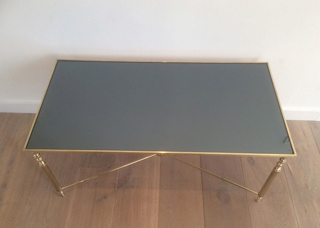 Brass Coffee Table With Original Blue Mirror Top-barrois-antiques-50's-12720_main_636319009162650766.jpg