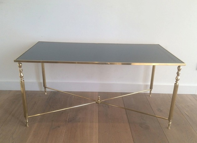 Brass Coffee Table With Original Blue Mirror Top-barrois-antiques-50's-12722_main_636319009585276438.jpg