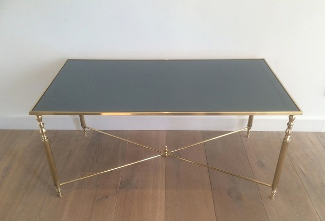 Brass Coffee Table With Original Blue Mirror Top-barrois-antiques-50's-12723_main_636319009929118070.jpg