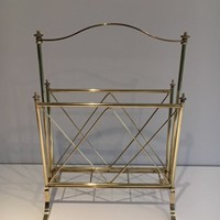 Neoclassical Brass Magazine Rack