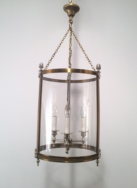Brass & Silver Lantern with  Plastic Faux-Glass-barrois-antiques-50's-16768_main_636365710373954370.jpg
