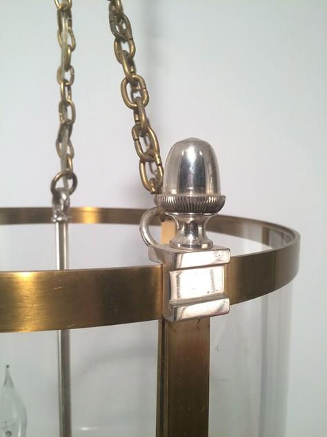 Brass & Silver Lantern with  Plastic Faux-Glass-barrois-antiques-50's-16770_main_636365710776142994.jpg