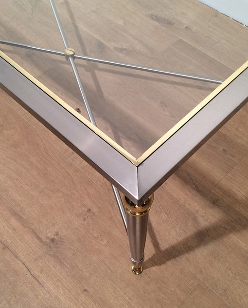 Large Brushed Steel and Brass Coffee Table-barrois-antiques-50's-16989_main_636413512112502997.jpg