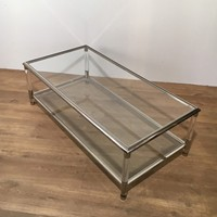 Chrome & Lucite Coffee Table