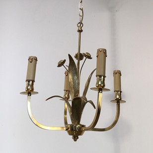 In the style of Maison Charles. Bronze Chandelier