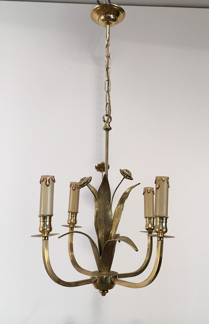 In the style of Maison Charles. Bronze Chandelier-barrois-antiques-50's-18914_main_636427305684693724.jpg