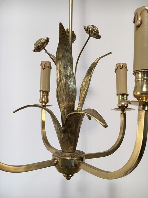 In the style of Maison Charles. Bronze Chandelier-barrois-antiques-50's-18917_main_636427306080017996.jpg
