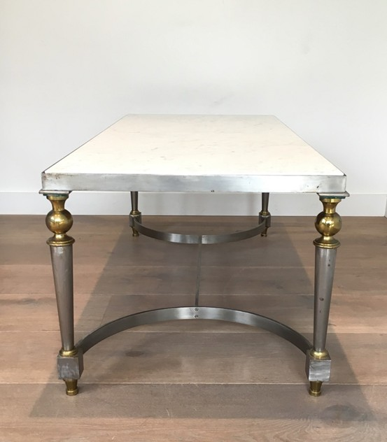 Very nice brushed steel and brass coffee table-barrois-antiques-50's-23604_main_636437648484706921.jpg