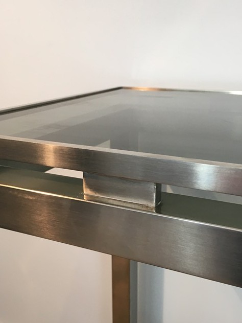 Beautiful Brushed Steel Console by Guy Lefèvre-barrois-antiques-50's-25804_main_636486752164644052.JPG