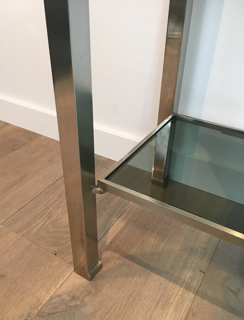 Beautiful Brushed Steel Console by Guy Lefèvre-barrois-antiques-50's-25805_main_636486752303647180.JPG