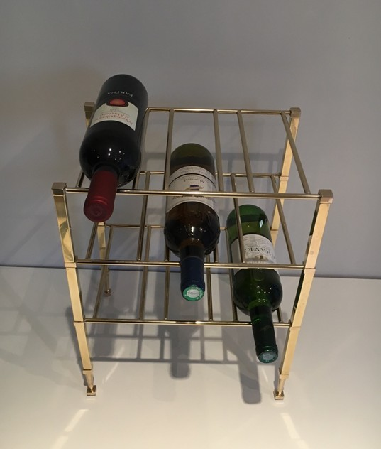 Neoclassical Brass Wine Bottles Rack. French -barrois-antiques-50's-25870_main_636516179662658284.JPG