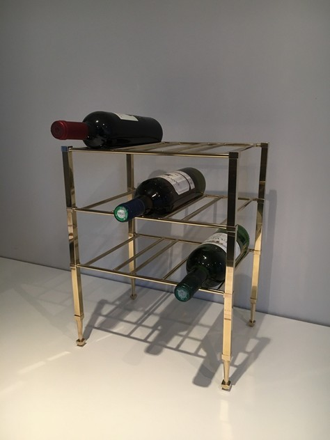 Neoclassical Brass Wine Bottles Rack. French -barrois-antiques-50's-25871_main_636516198985807112.JPG