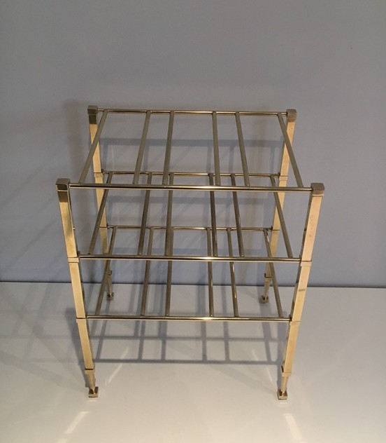 Neoclassical Brass Wine Bottles Rack. French -barrois-antiques-50's-25873_main_636516199162096152.JPG