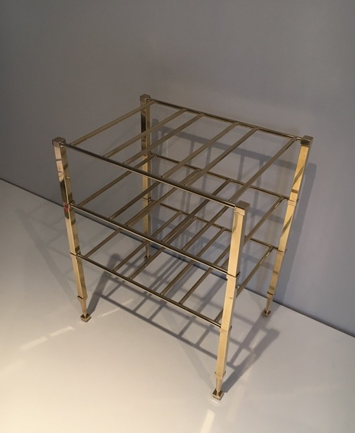 Neoclassical Brass Wine Bottles Rack. French -barrois-antiques-50's-25881_main_636516201286457088.JPG