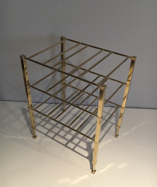 Neoclassical Brass Wine Bottles Rack. French -barrois-antiques-50's-25883_main_636516202167278256.JPG
