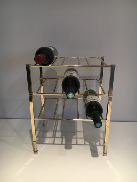 Neoclassical Brass Wine Bottles Rack. French -barrois-antiques-50's-25887_main_636516202530932904.JPG