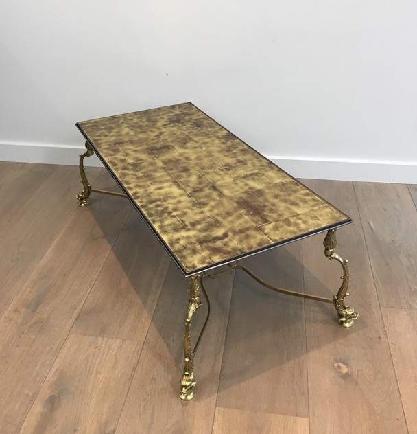 Rare Dolfins Neoclassical Brass Coffee Table -barrois-antiques-50's-26063_main_636546481775307821.JPG