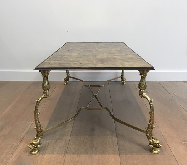 Rare Dolfins Neoclassical Brass Coffee Table -barrois-antiques-50's-26064_main_636546481943016421.JPG