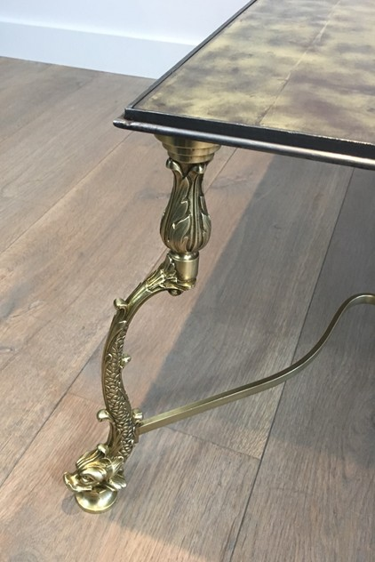Rare Dolfins Neoclassical Brass Coffee Table -barrois-antiques-50's-26066_main_636546482311507317.JPG