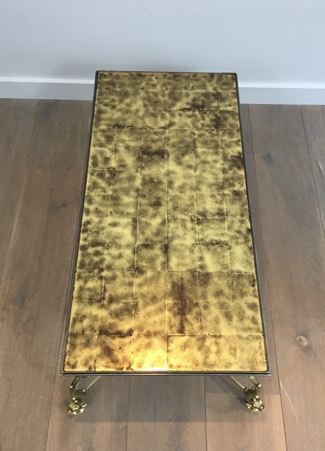 Rare Dolfins Neoclassical Brass Coffee Table -barrois-antiques-50's-26067_main_636546482522586141.JPG