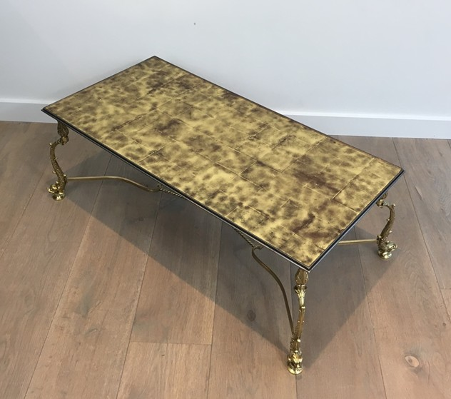 Rare Dolfins Neoclassical Brass Coffee Table -barrois-antiques-50's-26079_main_636546588751295307.JPG