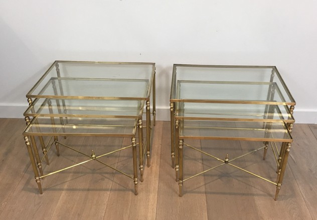 Pair of Neoclassical Brass Nesting tables. French-barrois-antiques-50's-26096_main_636548940237917415.JPG
