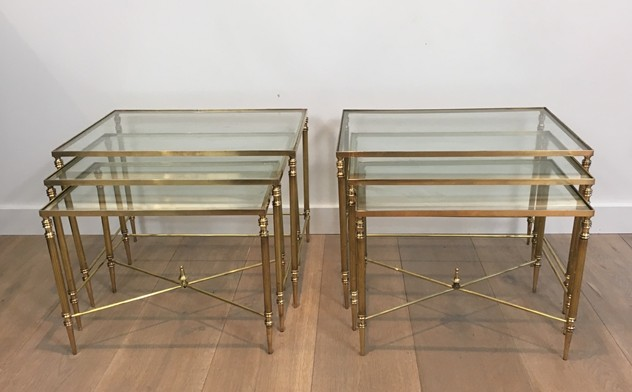 Pair of Neoclassical Brass Nesting tables. French-barrois-antiques-50's-26097_main_636548940415922543.JPG