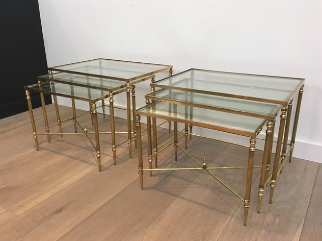Pair of Neoclassical Brass Nesting tables. French-barrois-antiques-50's-26098_main_636548940560697967.JPG