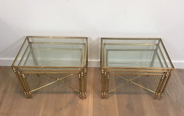Pair of Neoclassical Brass Nesting tables. French-barrois-antiques-50's-26100_main_636548940677859975.JPG