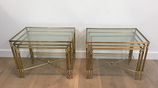 Pair of Neoclassical Brass Nesting tables. French-barrois-antiques-50's-26101_main_636548940796894079.JPG