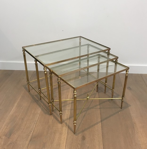 Pair of Neoclassical Brass Nesting tables. French-barrois-antiques-50's-26102_main_636548940923728583.JPG