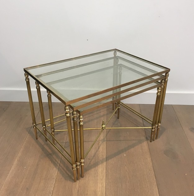 Pair of Neoclassical Brass Nesting tables. French-barrois-antiques-50's-26103_main_636548941068972031.JPG