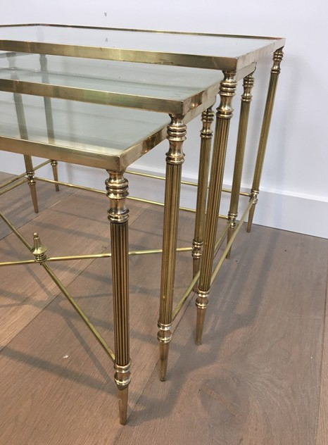 Pair of Neoclassical Brass Nesting tables. French-barrois-antiques-50's-26109_main_636548941313904591.JPG