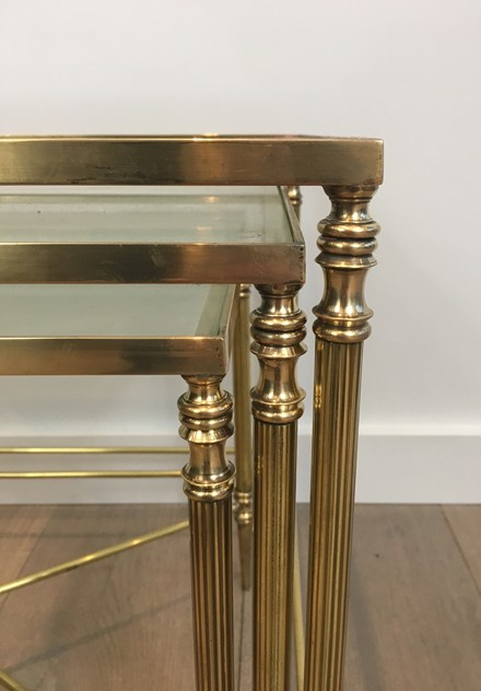 Pair of Neoclassical Brass Nesting tables. French-barrois-antiques-50's-26113_main_636548941777872383.JPG