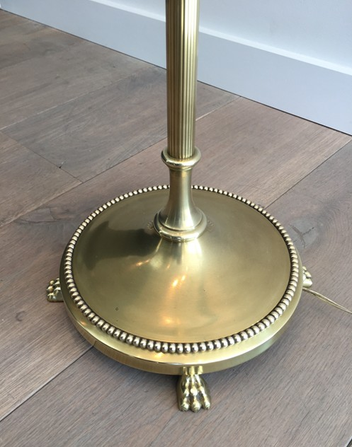 Brass Floor Lamp with Claw Feet -barrois-antiques-50's-26346_main_636567218618577881.JPG