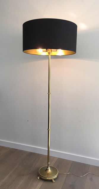 Brass Floor Lamp with Claw Feet -barrois-antiques-50's-26355_main_636567219551817737.JPG