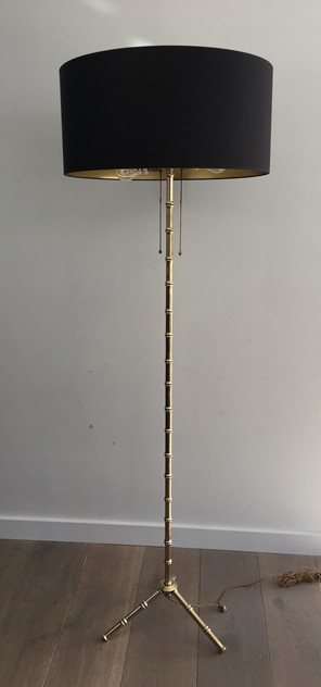 -Bambou Bronze and Brass Floor Lamp. French.-barrois-antiques-50's-26356-main-636573073418916455.JPG