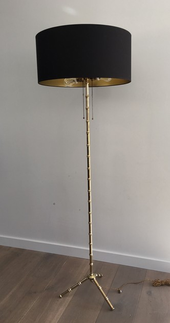 -Bambou Bronze and Brass Floor Lamp. French.-barrois-antiques-50's-26357-main-636573074381173799.JPG