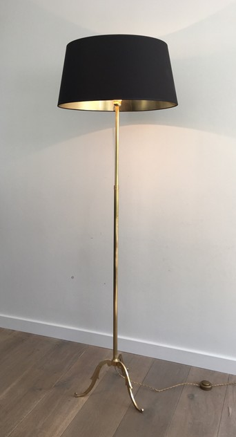 Neoclassical Adjustable Brass Floor Lamp-barrois-antiques-50's-26375_main_636565466660856527.JPG