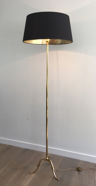 Neoclassical Adjustable Brass Floor Lamp-barrois-antiques-50's-26379_main_636565467437775341.JPG
