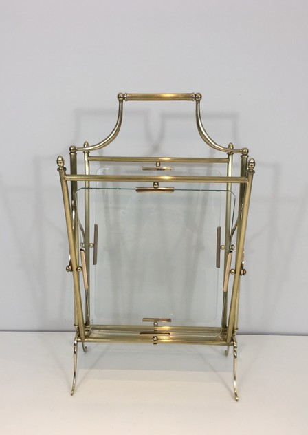 Brass & Glass Neoclassical Magazine Rack-barrois-antiques-50's-26445_main_636565478518707112.JPG