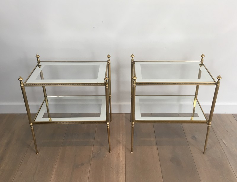 Pair of Brass Side Tables with Clear Glass-barrois-antiques-50's-26798-main-636594052480284462.JPG