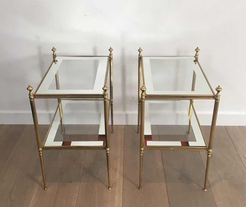 Pair of Brass Side Tables with Clear Glass-barrois-antiques-50's-26800-main-636594052637228510.JPG